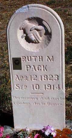 PACK, RUTH - Summit County, Utah | RUTH PACK - Utah Gravestone Photos