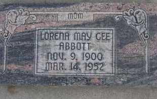 ABBOTT, LORENA MAY - Utah County, Utah   LORENA MAY ABBOTT - Utah Gravestone Photos