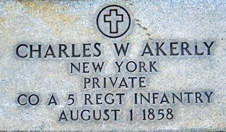 AKERLY (SERV), CHARLES W. - Utah County, Utah | CHARLES W. AKERLY (SERV) - Utah Gravestone Photos