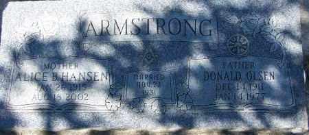 HANSEN, ALICE B - Utah County, Utah | ALICE B HANSEN - Utah Gravestone Photos