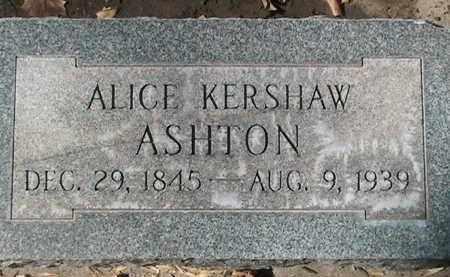 KERSHAW ASHTON, ALICE - Utah County, Utah | ALICE KERSHAW ASHTON - Utah Gravestone Photos