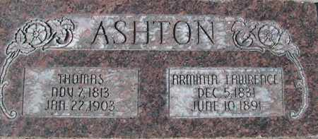 LAWRENCE ASHTON, ARMINTA - Utah County, Utah | ARMINTA LAWRENCE ASHTON - Utah Gravestone Photos