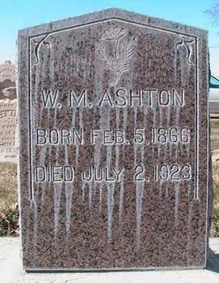 ASHTON, WILLIAM M - Utah County, Utah | WILLIAM M ASHTON - Utah Gravestone Photos