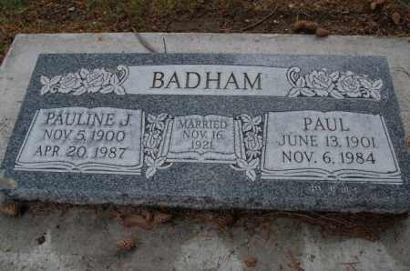 BADHAM, PAULINE - Utah County, Utah   PAULINE BADHAM - Utah Gravestone Photos