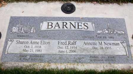 ELTON BARNES, SHARON ANNE - Utah County, Utah | SHARON ANNE ELTON BARNES - Utah Gravestone Photos