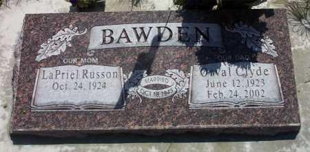 BAWDEN, ORVAL CLYDE - Utah County, Utah | ORVAL CLYDE BAWDEN - Utah Gravestone Photos