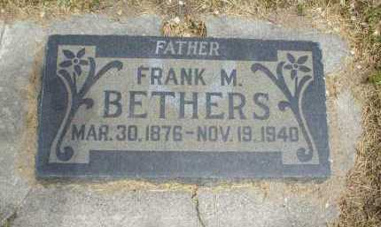 BETHERS, FRANK MAHLON - Utah County, Utah | FRANK MAHLON BETHERS - Utah Gravestone Photos