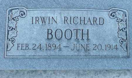 BOOTH, IRWIN RICHARD - Utah County, Utah | IRWIN RICHARD BOOTH - Utah Gravestone Photos