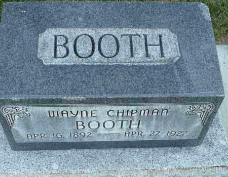 BOOTH, WAYNE CHIPMAN - Utah County, Utah | WAYNE CHIPMAN BOOTH - Utah Gravestone Photos