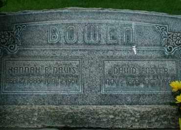 DAVIS BOWEN, HANNAH E - Utah County, Utah | HANNAH E DAVIS BOWEN - Utah Gravestone Photos