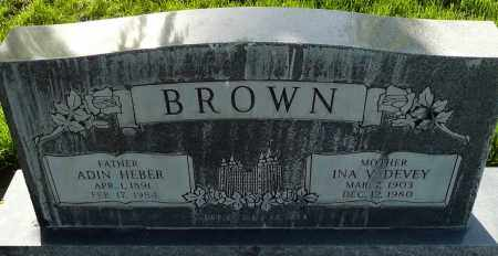 BROWN, ADIN HEBER - Utah County, Utah | ADIN HEBER BROWN - Utah Gravestone Photos