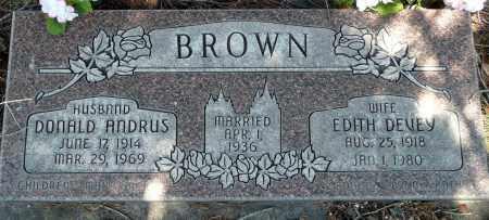 BROWN, DONALD ANDRUS - Utah County, Utah | DONALD ANDRUS BROWN - Utah Gravestone Photos