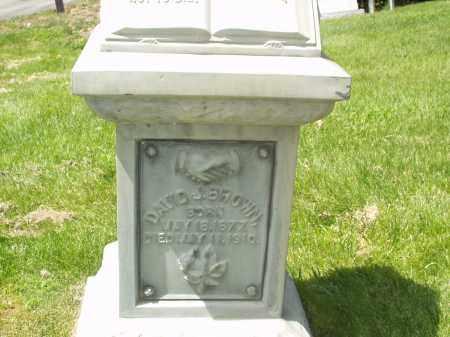 BROWN, DAVID J - Utah County, Utah   DAVID J BROWN - Utah Gravestone Photos