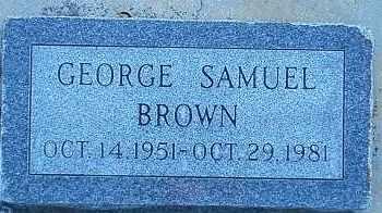 BROWN, GEORGE SAMUEL - Utah County, Utah | GEORGE SAMUEL BROWN - Utah Gravestone Photos