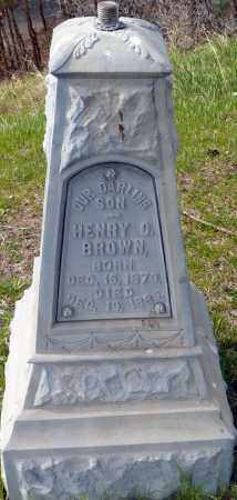 BROWN, HENRY OSCAR - Utah County, Utah | HENRY OSCAR BROWN - Utah Gravestone Photos