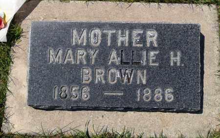 BROWN, MARY ALLIE - Utah County, Utah | MARY ALLIE BROWN - Utah Gravestone Photos