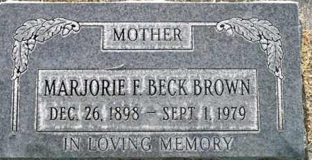 BECK BROWN, MARJORIE F. - Utah County, Utah | MARJORIE F. BECK BROWN - Utah Gravestone Photos