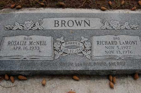 BROWN, RICHARD LAMONT - Utah County, Utah   RICHARD LAMONT BROWN - Utah Gravestone Photos
