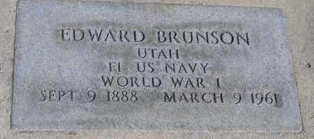 BRUNSON (WWI), EDWARD WILLIAM - Utah County, Utah | EDWARD WILLIAM BRUNSON (WWI) - Utah Gravestone Photos