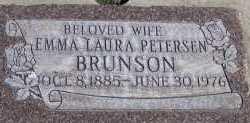 BRUNSON, EMMA LAURA - Utah County, Utah | EMMA LAURA BRUNSON - Utah Gravestone Photos