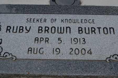 BROWN BURTON, RUBY - Utah County, Utah | RUBY BROWN BURTON - Utah Gravestone Photos