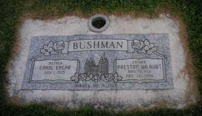 EAGAR BUSHMAN, CAROL - Utah County, Utah | CAROL EAGAR BUSHMAN - Utah Gravestone Photos