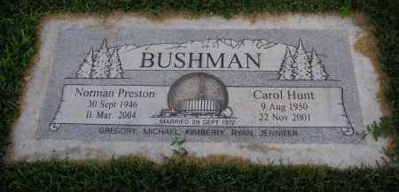 HUNT BUSHMAN, MARILYN CAROL - Utah County, Utah | MARILYN CAROL HUNT BUSHMAN - Utah Gravestone Photos