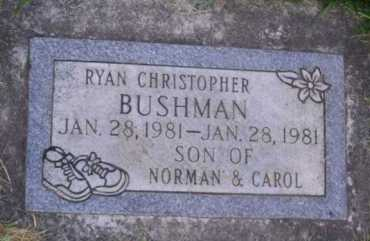 BUSHMAN, RYAN CHRISTOPHER - Utah County, Utah | RYAN CHRISTOPHER BUSHMAN - Utah Gravestone Photos