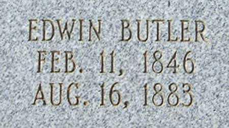 BUTLER, EDWIN - Utah County, Utah | EDWIN BUTLER - Utah Gravestone Photos