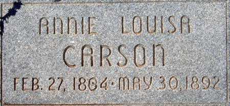 CARSON, ANNIE LOUISA - Utah County, Utah   ANNIE LOUISA CARSON - Utah Gravestone Photos