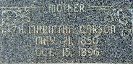 CARSON, AMELIA MARINTHA - Utah County, Utah   AMELIA MARINTHA CARSON - Utah Gravestone Photos