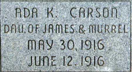 CARSON, ADA KAZIAH - Utah County, Utah | ADA KAZIAH CARSON - Utah Gravestone Photos