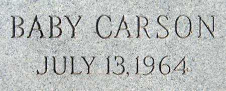 CARSON, BABY - Utah County, Utah   BABY CARSON - Utah Gravestone Photos