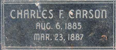 CARSON, CHARLES FREDRICK - Utah County, Utah   CHARLES FREDRICK CARSON - Utah Gravestone Photos
