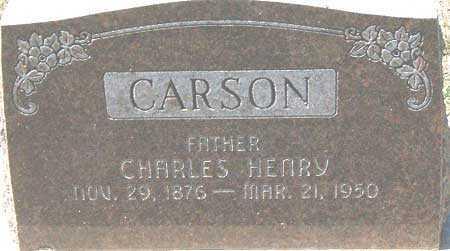 CARSON, CHARLES HENRY - Utah County, Utah | CHARLES HENRY CARSON - Utah Gravestone Photos