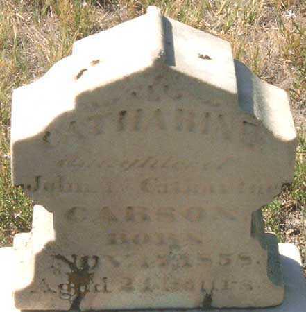 CARSON, CATHARINE - Utah County, Utah | CATHARINE CARSON - Utah Gravestone Photos