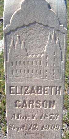 CARSON, ELIZABETH - Utah County, Utah | ELIZABETH CARSON - Utah Gravestone Photos