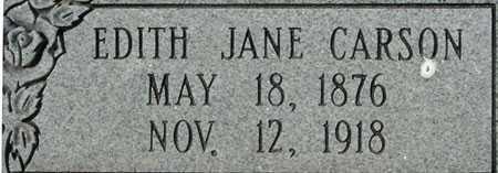 CARSON, EDITH JANE - Utah County, Utah   EDITH JANE CARSON - Utah Gravestone Photos