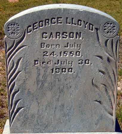 CARSON, GEORGE LLOYD - Utah County, Utah | GEORGE LLOYD CARSON - Utah Gravestone Photos