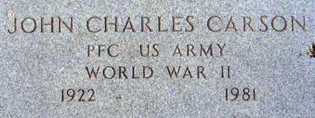 CARSON (WWII), JOHN CHARLES - Utah County, Utah | JOHN CHARLES CARSON (WWII) - Utah Gravestone Photos