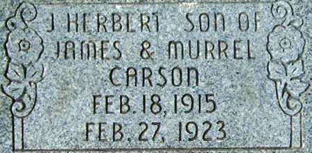 CARSON, JAMES HERBERT - Utah County, Utah | JAMES HERBERT CARSON - Utah Gravestone Photos