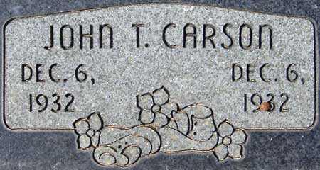 CARSON, JOHN TRUMAN - Utah County, Utah | JOHN TRUMAN CARSON - Utah Gravestone Photos