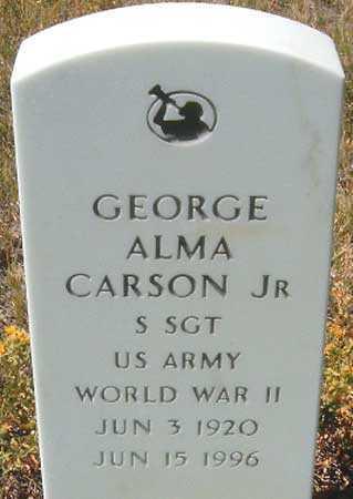 CARSON (WWII), GEORGE ALMA, JR. - Utah County, Utah | GEORGE ALMA, JR. CARSON (WWII) - Utah Gravestone Photos
