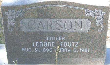 CARSON, LEAONE - Utah County, Utah | LEAONE CARSON - Utah Gravestone Photos