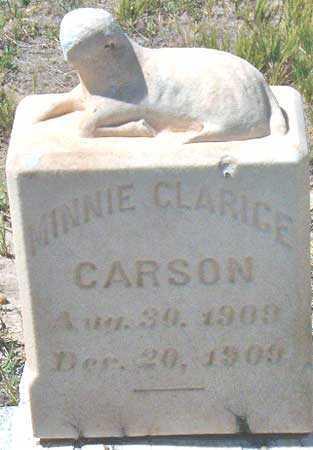 CARSON, MINNIE CLARICE - Utah County, Utah | MINNIE CLARICE CARSON - Utah Gravestone Photos