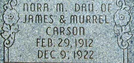 CARSON, NORA MURREL - Utah County, Utah | NORA MURREL CARSON - Utah Gravestone Photos