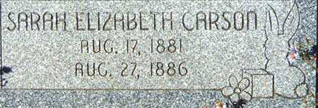 CARSON, SARAH ELIZABETH - Utah County, Utah | SARAH ELIZABETH CARSON - Utah Gravestone Photos