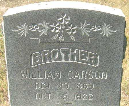 CARSON, WILLIAM - Utah County, Utah | WILLIAM CARSON - Utah Gravestone Photos
