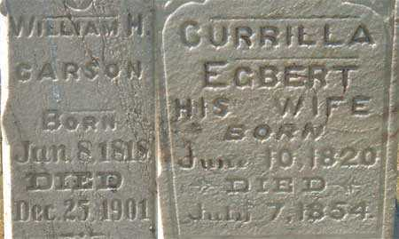 EGBERT CARSON, CURRILLA (CORILLA) - Utah County, Utah | CURRILLA (CORILLA) EGBERT CARSON - Utah Gravestone Photos