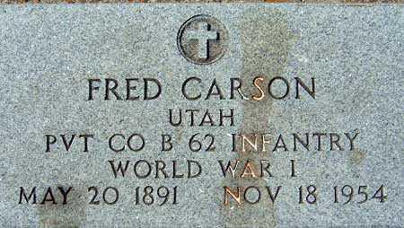 CARSON (WWI), FRED - Utah County, Utah | FRED CARSON (WWI) - Utah Gravestone Photos